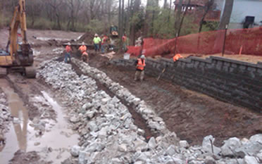 Stream Bank Restoration | Kuesel Excavating Co.
