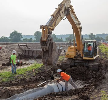 Construction Site Utilities | Kuesel Excavating Co.